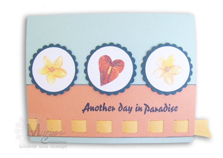 Another Day in Paradise Tropical card