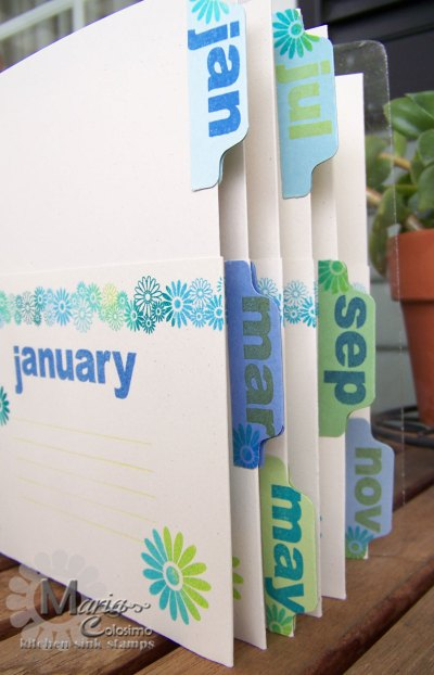 Close Up of Greeting Card Album Organizer