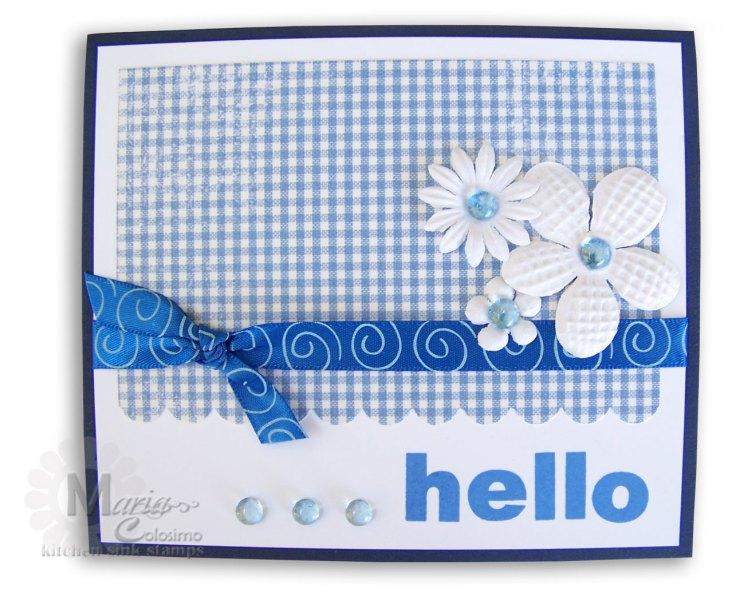 Hello Daisy Flower Card