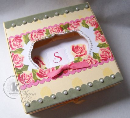 Roses Note Box and Cards Set