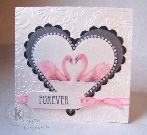 Pink Swans Valentine Card