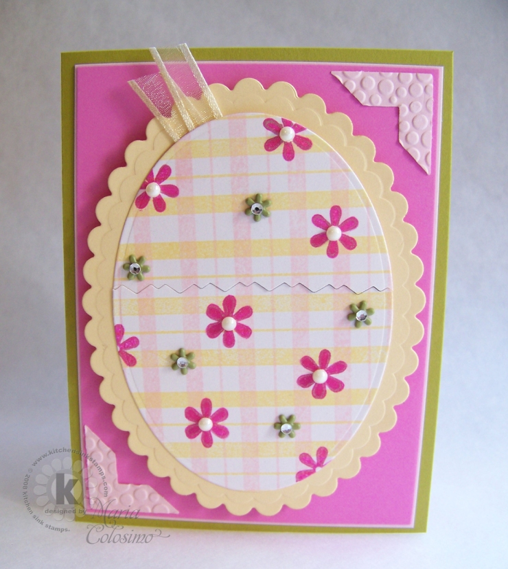 Plaid and Daisy Egg card