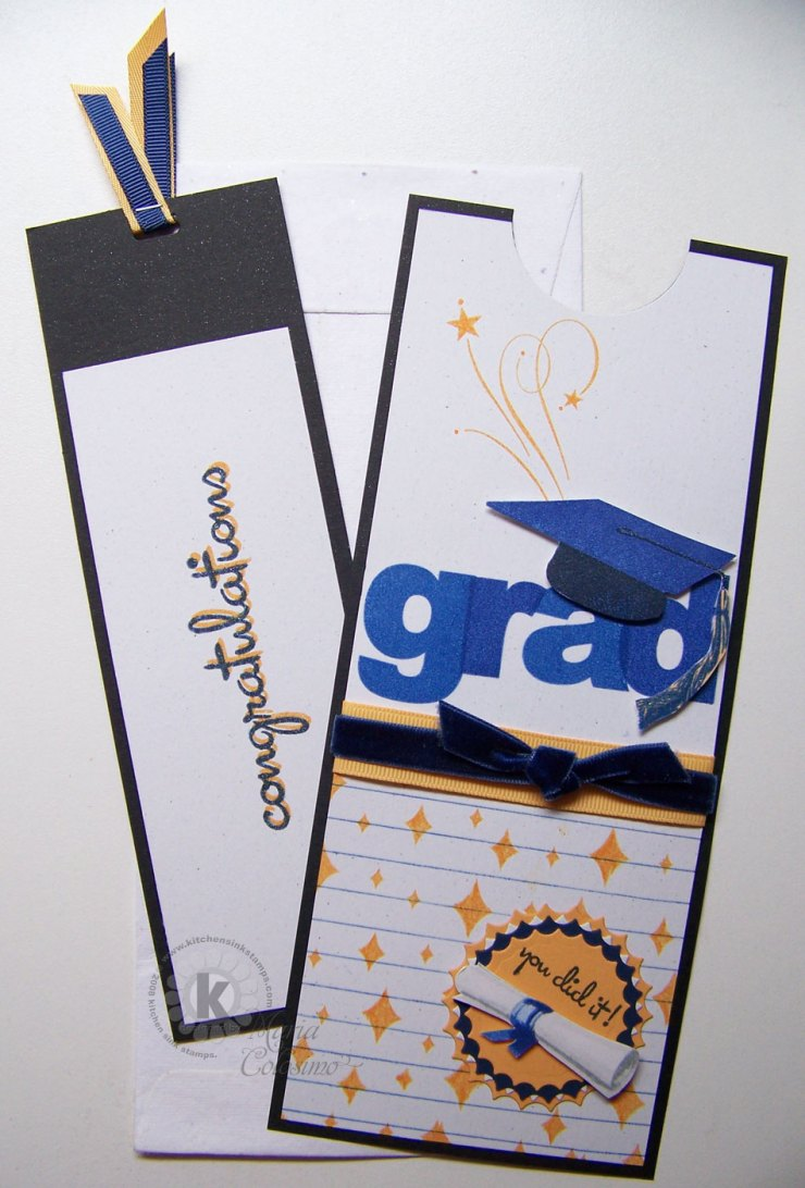 Pull Tab Long Tall Graduation Card