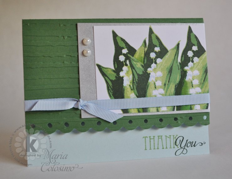 Lily of the Valley Thank You Card