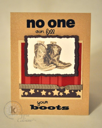 No One Can Fill Your (Cowboy) Boots Card