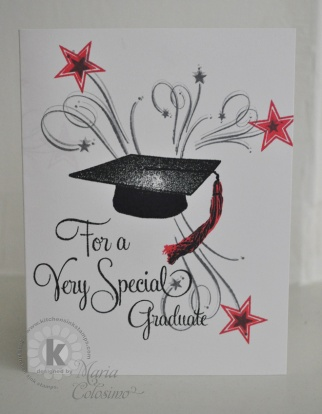 Graduation Cap & Stars Card