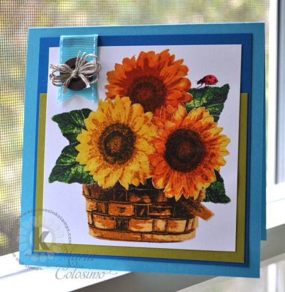 Basket-of-sunflowers