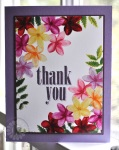 Plumeria Thank you from Kitchen Sink Stamps