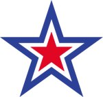 red-white-&-blue-star