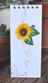 Sunflower Bucket Note Pad - back cover