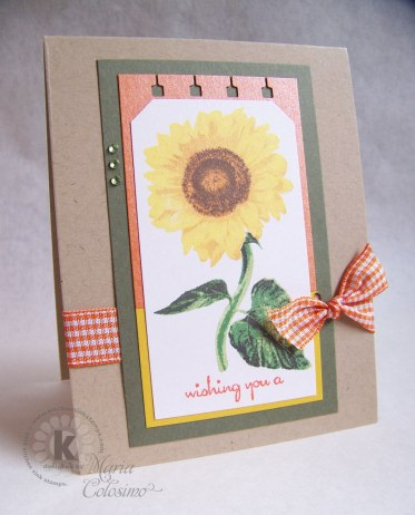 Giant Sunflower Card - Wishing you a