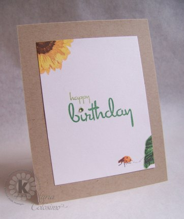 Giant Sunflower Card - Wishing you a Happy Birthday - inside card