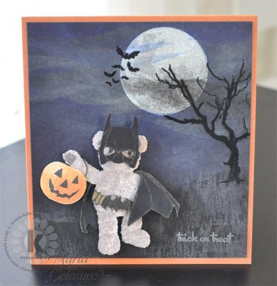 Holy Bat Bear - Teddy Bear Wishes from Kitchen Sink Stamps
