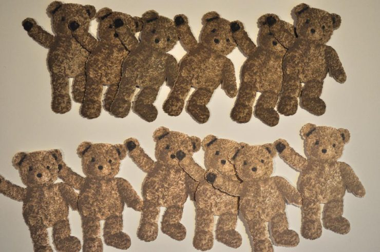 Army of stamped SVG Cut bears