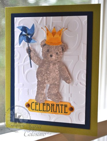 Celebrate with King Teddy from Kitchen Sink Stamps