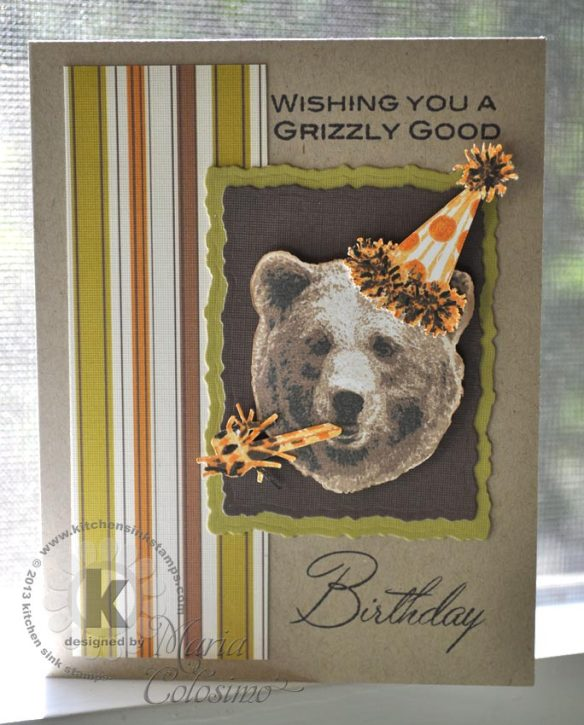 Birthday Party Bear Card