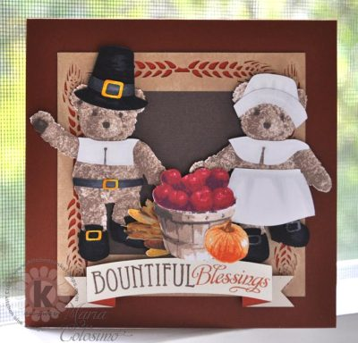Thanksgiving Bears from Kitchen Sink Stamps