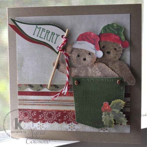 Merry Christmas Bears from Kitchen Sink Stamps