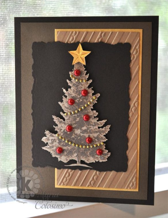 Sepia Snowy Pine from Kitchen Sink Stamps