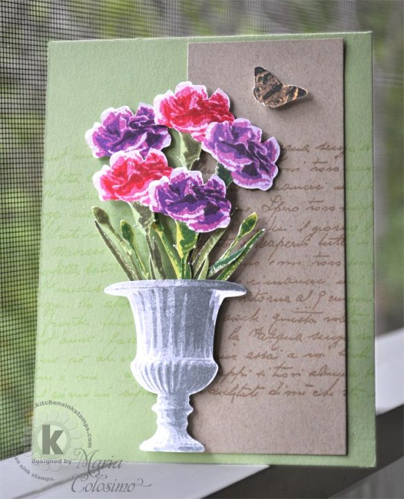 carnation bouquet - Kitchen Sink Stamps