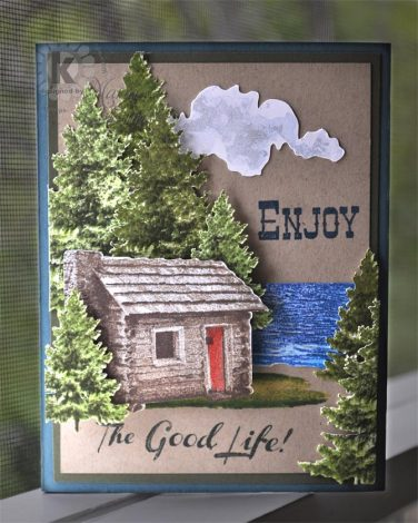 Multi Step Cabin by the Lake - from Kitchen Sink Stamps