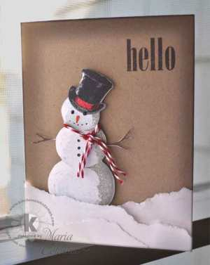 Hello Snowman from Kitchen Sink Stamps