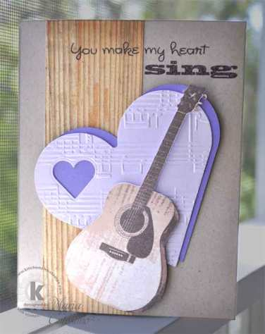 Guitar Valentine Card