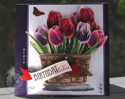 Basket-of-Tulips by Kitchen Sink Stamps