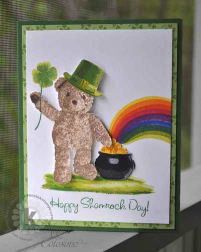 Shamrock-Bear by Kitchen Sink Stamps