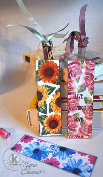 Daisy-Rose-Sunflower-Bookmarks