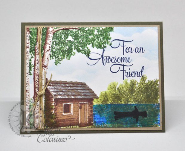 Cabin Amongst Burch Trees Friend card