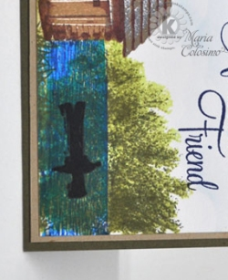 Close Up of Tree - Cabin Amongst Burch Trees Friend card