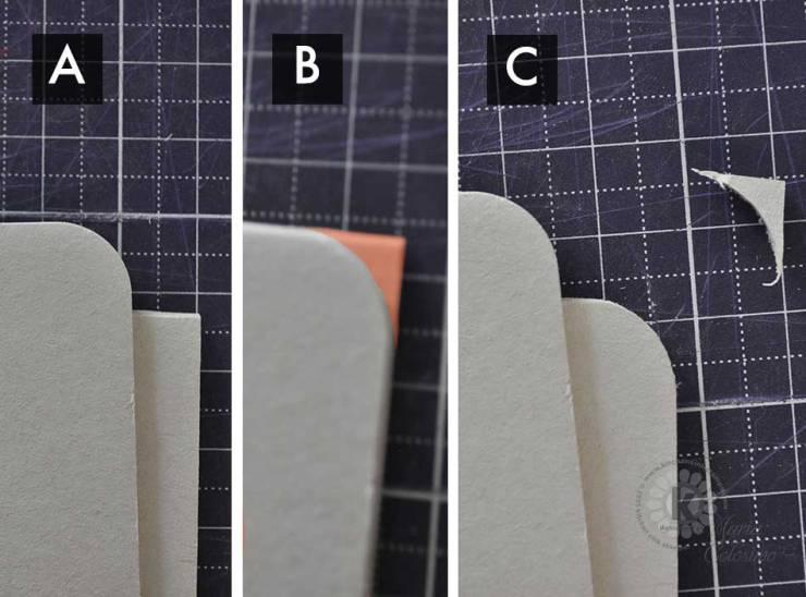 Cutting round corner of Coaster Chipboard Half