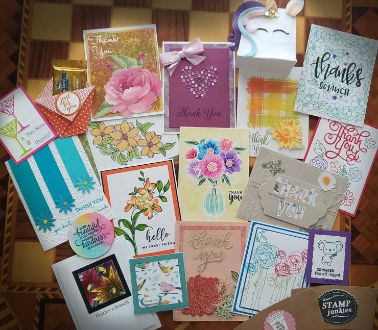 Thank you cards from Junkie Fest 2018