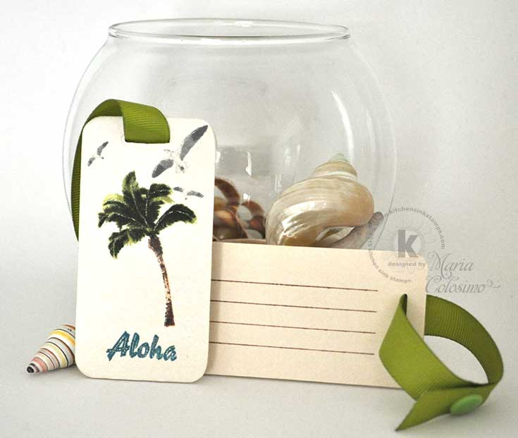 Hawaiian Luggage Tags Aloha Palm Trees