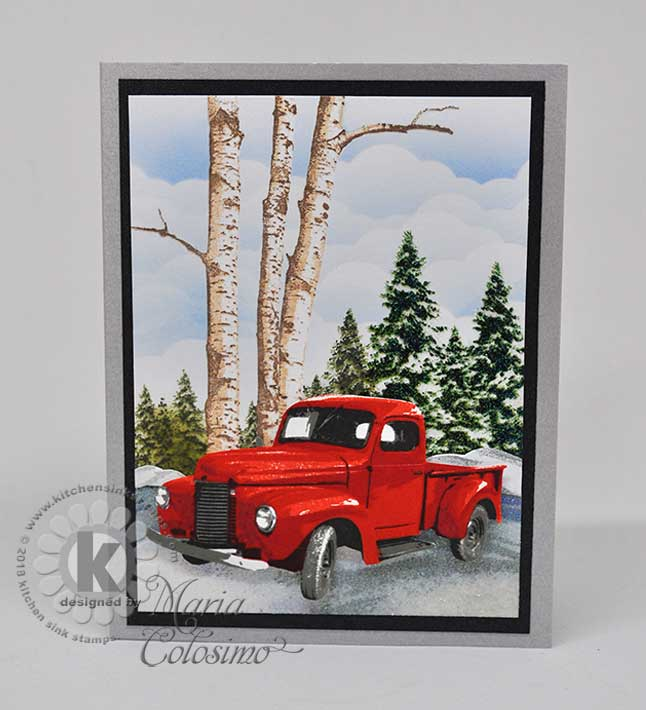 Wintertime-Truck-snow-with-Pine-trees