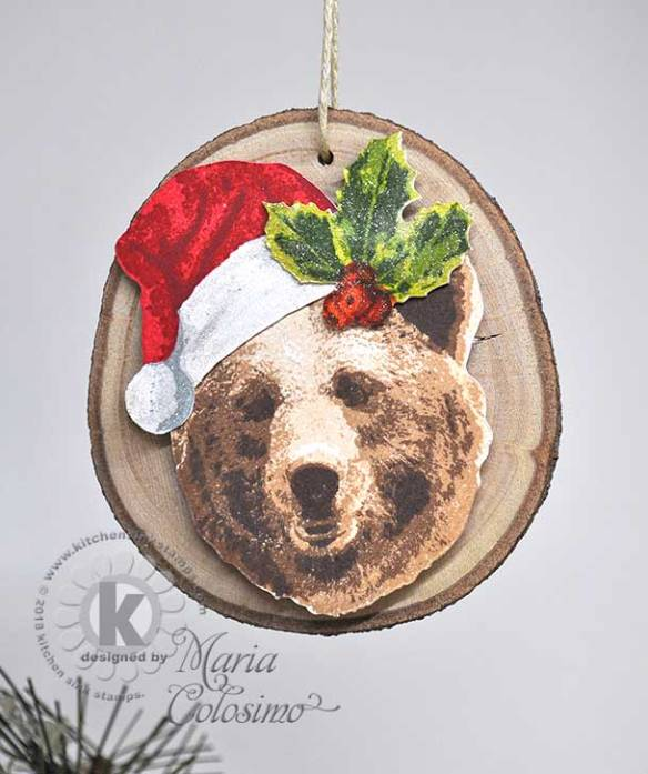 Grizzly-Bear-Santa-Wood-Disc-Ornament-2