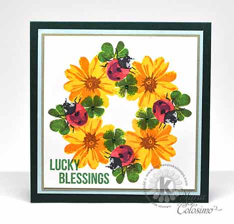 Ladybugs, Shamrocks and Daisies St Patrick's Day Card