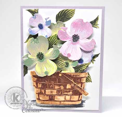 Basket filled with Dogwood Card