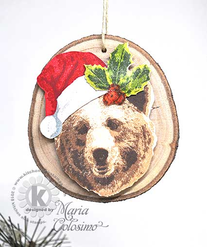 Grizzly-Bear-Santa-Wood-Disc-Ornament-2b