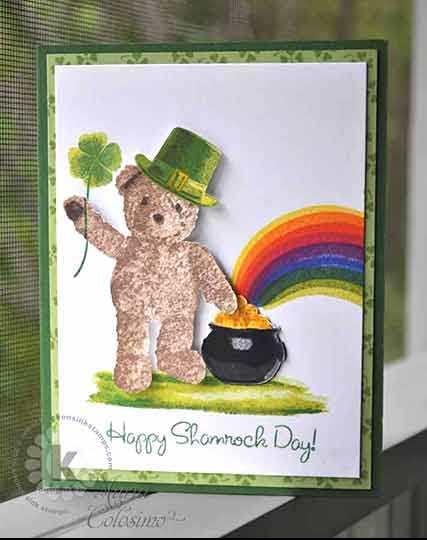 Pot of Gold Shamrock St Patricks Day Card