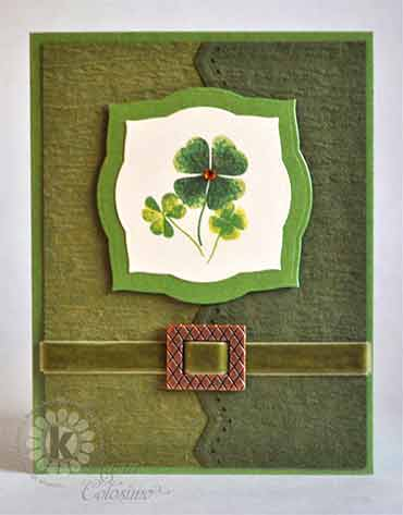 Shamrock St Patricks Day Card