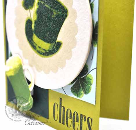 Shamrocks and Green Beer St Patrick's Day Card - close up