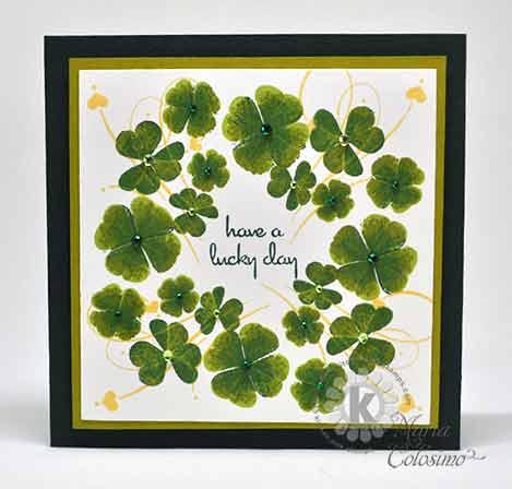 Shamrocks St Patrick's Day Card