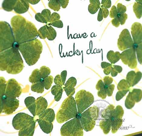 Shamrocks St Patrick's Day Card - close up